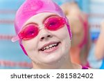 photo of cute girl in swimming... | Shutterstock . vector #281582402