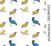 seamless pattern with birds | Shutterstock . vector #281584322