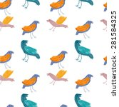 seamless pattern with birds | Shutterstock . vector #281584325