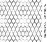 black and white seamless... | Shutterstock .eps vector #281590376