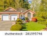 luxury house in vancouver ... | Shutterstock . vector #281595746