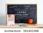 blackboard in an english class. ... | Shutterstock . vector #281602388