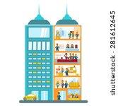 modern office building in... | Shutterstock .eps vector #281612645