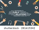 vector public relations concept ... | Shutterstock .eps vector #281615342