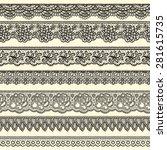 set of decorative borders...   Shutterstock .eps vector #281615735