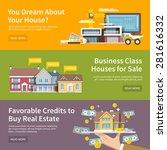 house horizontal banner set...   Shutterstock .eps vector #281616332