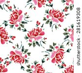 seamless pattern with... | Shutterstock .eps vector #281619308