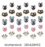 set of domestic animals... | Shutterstock .eps vector #281628452