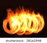 flames on the black background | Shutterstock . vector #28162948
