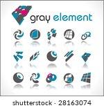 vector design elements. set 3. | Shutterstock .eps vector #28163074