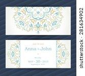 vintage ornate cards in...   Shutterstock .eps vector #281634902