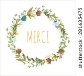 romantic floral vector... | Shutterstock .eps vector #281635475