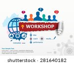workshop concept and group of... | Shutterstock .eps vector #281640182
