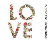 """the word """"love""""  lined with... 