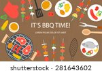 cooking banner with grill top... | Shutterstock .eps vector #281643602