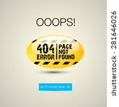 creative page not found  404... | Shutterstock .eps vector #281646026