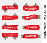 red inflated ribbon banners... | Shutterstock .eps vector #281652782