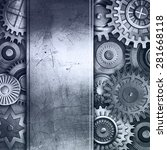 metallic gears background | Shutterstock . vector #281668118