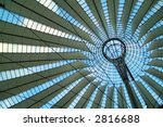 Roof of Berlin Sony Center - stock photo