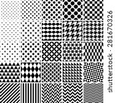 set of 25 classic geometric... | Shutterstock .eps vector #281670326