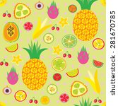 vector background with tropical ... | Shutterstock .eps vector #281670785
