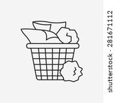 garbage can line icon | Shutterstock .eps vector #281671112