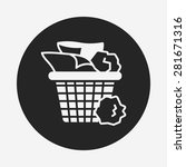 garbage can icon | Shutterstock .eps vector #281671316