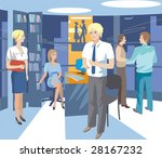 vector pickture. work at office.... | Shutterstock .eps vector #28167232