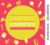 variety cosmetics background... | Shutterstock .eps vector #281680046