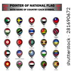 pointer of national flag around ... | Shutterstock .eps vector #281690672