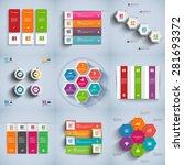 set of abstract 3d digital... | Shutterstock .eps vector #281693372
