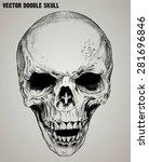 vector doodle skull | Shutterstock .eps vector #281696846