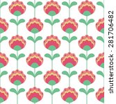 seamless pattern with flower | Shutterstock .eps vector #281706482