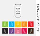 plaster icon   vector | Shutterstock .eps vector #281708825