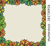 flower frame | Shutterstock .eps vector #281730926