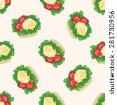 salad   cartoon seamless... | Shutterstock .eps vector #281730956