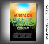 summer brochure | Shutterstock .eps vector #281735492