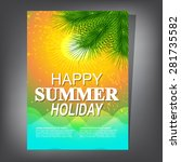 summer brochure | Shutterstock .eps vector #281735582