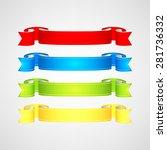 vector ribbons set | Shutterstock .eps vector #281736332
