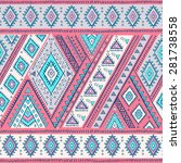 vector tribal mexican vintage... | Shutterstock .eps vector #281738558
