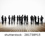 business people conference... | Shutterstock . vector #281738915