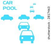 abstract carpool sign blue on... | Shutterstock . vector #2817463