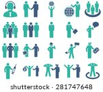 management and people... | Shutterstock . vector #281747648