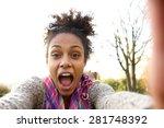 Selfie Portrait Of A Happy...