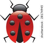 lucky lady bug | Shutterstock .eps vector #28174945