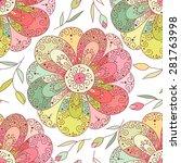 flower cute vector seamless... | Shutterstock .eps vector #281763998