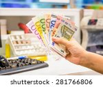 exchange euro currency money at