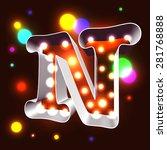 retro vegas lamps n for... | Shutterstock .eps vector #281768888
