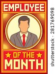 employee of the month design | Shutterstock .eps vector #281769098