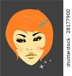 vintage fashion girl | Shutterstock .eps vector #28177900